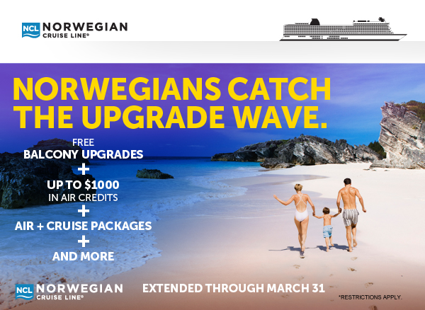 NORWEGIANS CATCH THE UPGRADE WAVE.